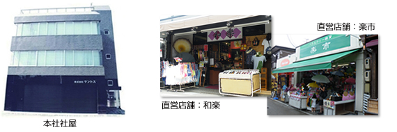 本社社屋、店舗写真